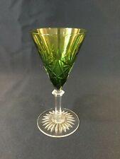 Verre à vin VERT. Modèle EURYDICE en cristal. H:130 mm Val Saint Lambert