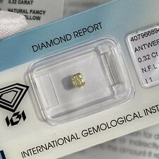 0.32ct Fancy Light Yellow Diamond Untreated Cushion Cut IGI CERTIFIED Blister
