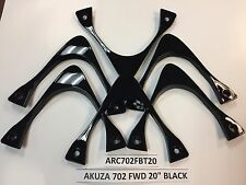 "AKUZA 702 CREATION SET 6-BLACK INSERTS for CHROME 20X7.5"" FWD only (ARC702FBT20)"