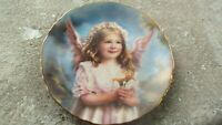"""Angel Of Peace Collector Plate Sandra Kuck Precious Angels Reco 1995 7.5"""" MINT"""