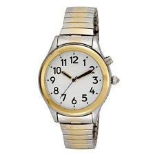 Ladies Two Tone Talking Watch White Face, Choice of Voices Male & Female Spanish