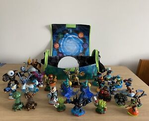 SKYLANDERS Job Lot Bundle, 27x Figures 2x Creation Crystals + Case + USB Portal