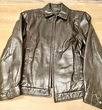 Roundtree and York Men's Black Leather Jacket Small, Great Condition, Super Soft