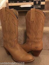 FRYE BOOTS WESTERN ♞COWBOY ♞ STYLE 7972 BUTTERSCOTCH TAN LEATHER ♞ USA MADE