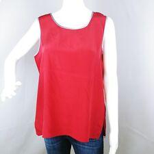 New Bob Mackie Wearable Art Women's Size Med Tank Top Shirt Silk Sleeveless