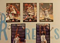 1997 Basketball Rookies 5 Card Lot Tim Duncan Rookie #1 RC