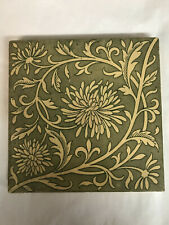 Minton China Works Stoke on Trent Green Art Tile, Arts & Crafts, Art Pottery 6x6