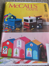 SEWING PATTERN M6806 TOY STORAGE KIDS TRAIN FIRE TRUCK STORES CONTAINERS UNCUT