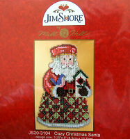 Mill Hill Cross Stitch Bead Kit 'Cosy Christmas Santa' by Jim Shore 20-3104