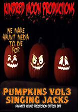 Singing Pumpkins Halloween Projection Effects DVD Halloween props Vol 3