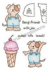 Stampers Anonymous INKY ANTICS Clear Stamps ICE CREAM PUP HONEYPOP 11049MC