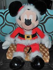 "Mickey Mouse Clubhouse SANTA CLAUS JUMBO 2 Foot Large Plush Doll 24"" RARE Disney"