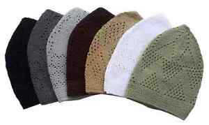 Knitted Turkish Cotton Cap hat Tupi Takke by Mercan single or dozen lot