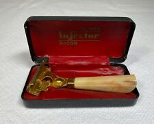 Vintage Safety Razor - Schick Injector W/ Case, Cream Bakelite Handle