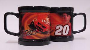 TONY STEWART #20 (2) Piece NASCAR Ceramic Coffee Mug Set - 11 oz.
