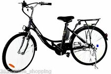 "New 24"" Z3 Compact Ladies Electric Eco E-Bike Blue Commuting Bicycle Transport"