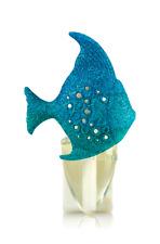 BATH & BODY WORKS BLUE SPARKLY GLITTER FISH WALLFLOWERS FRAGRANCE PLUG IN HOLDER