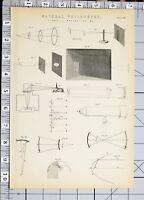1886 Stampa Naturale Filosofia Luce Reflection Vari Diagrammi Photometry