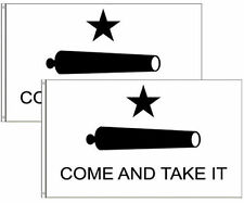 (2 pack lot) 3x5 Gonzales Gonzalez Texas Come and Take it Flag 3'x5' Banner poly