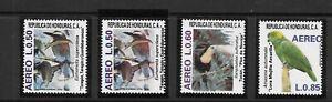 HONDURAS. 1987. BIRDS. PARROT, TOUCAN ETC. 2 SHADES OF 50c. NEVER HINGED MINT.