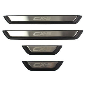 For Mazda CX-5 2017 to 2020 Car Stainless Steel Door Sill Scuff Plate Protector