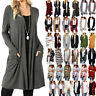 Women Long Sleeve Knitted Cardigan Loose Sweater Casual Outwear Jacket Coat Tops