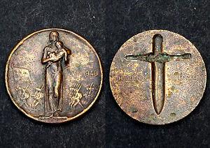Médaille I.VIII.1940- Médaille patriotique de l'armée Suisse. Bronze
