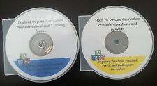 4000 printable preschool curriculum games and worksheets in PDF files.  2 CD-R's