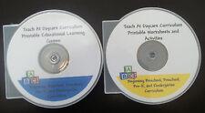 4000 printable preschool curriculum games and worksheets in PDF files.  2 CD-R's