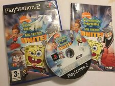 PLAYSTATION 2 PS2 GAME SPONGEBOB SQUAREPANTS AND FRIENDS UNITE! COMPLETE PAL