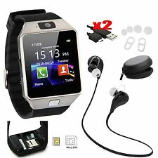 Bluetooth Smart Watch SIM Card Sport Wireless Earphones For Samsung iPhone HTC