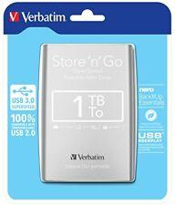 Verbatim 1TB `n`go USB 3.0 Silver - 53071
