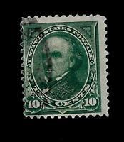 US  Sc# 273  10 CENT D. Webster USED  - Crisp Color