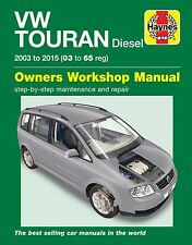 Haynes Manual Volkswagen Touran Diesel 2003- 2015 6367