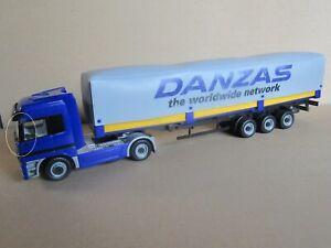 441O Kidsmate Camion en Plastique Mercedes-Benz Actros Semi Remorque Danzas 1:43