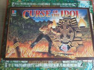 classic MB GAMES CURSE of the IDOL (1990) BOARDGAME - COMPLETE.