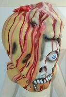 Halloween Adult Zombie Mask Latex Bloody Scary Disgusting Full Face One EYE US