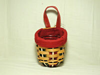 LONGABERGER 2009 Holiday Sweets Basket Combo with Paprika Liner and Protector