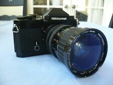 Nikkomat SLR 35mm Film Camera black body