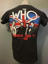 Vtg 80s The Who Concert Tour T-Shirt Mens M Screen Stars 1982 Concert Rock Show