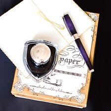 ST Dupont Atelier Palladium Finish Purple Natural Lacquer Fountain Pen M Nib