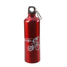 Borraccia Bicicletta Sportiva in Alluminio Rosso 750ml J5H3