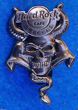DALLAS TEXAS SILVER SKULL SERIES SERPENT TAIL HORNS CLOAK Hard Rock Cafe PIN LE