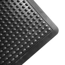 Anti Fatigue Air Step, Ergo Dome Rubber Mat Commercial Grade 600 x 900mm - Black