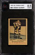1951-52 PARKHURST HOCKEY #28 WOODY DUMART HOF BOSTON BRUINS KSA 8.5 NM-MT+
