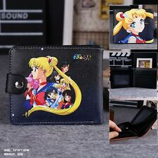 Japan Anime Sailor Moon Man&Woman Cosplay Leather Wallet Purse Two-Fold Purse