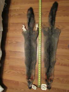 grey fox pelt / hide /skin,quality garment tanned good leather new shipment