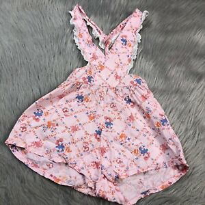 1950/'s Pink Blue Candy Apple Print Vintage Little Girl/'s Overall Play Suit Childs Mid Century Play Suit 50/'s Girls Summer Cotton Overalls