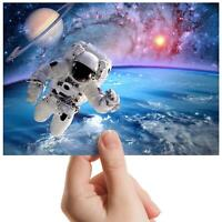 """Outer Space Astronaut Galaxy Small Photograph 6"""" x 4"""" Art Print Photo Gift #8219"""