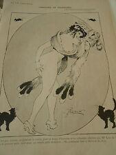 Concours de Fourrures Toque d'Hermine Nue Nude Print Art Déco 1908